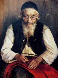 """Yehuda Pen. """"The old tailor."""" 1910's."""