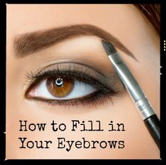 Makeup artist tips to fill in thin eyebrows #makeup #eyebrows #TheGuidetoGettingGlam