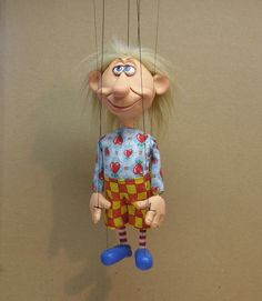 OOAK cartoon style marionette  BOOBY by AMCreatures on Etsy, $95.00