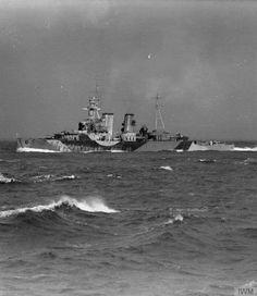 ON BOARD THE BRITISH CRUISER HMS SHROPSHIRE. 8 TO 12 MARCH 1942. The British cruiser HMS FROBISHER at sea. Priest, L C (Lt) © IWM (A 8063)