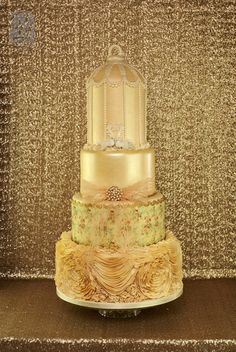 2 # Cakes - Gold on Pinterest Gold Wedding Cakes, Gold ...