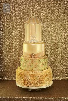 2 # Cakes - Gold on Pinterest Gold Wedding Cakes, Gold ...