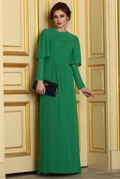 By Anna Yeşil Lizzy Tesettür Abiye Elbise