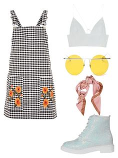 """""""Untitled #2061"""" by dani-gracik ❤ liked on Polyvore featuring Topshop, LMNT and Moschino"""