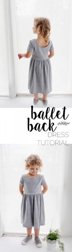 Ballet Back Dress Tutorial | See Kate Sew