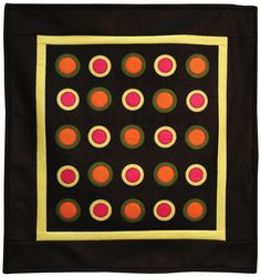 #Quilt wall hanging using GO! Circle die #accuquilt #fabriccutter http://www.accuquilt.com/new/go-circles-wall-hanging.html