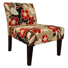 Potential Accent Chair for Living room. Could Match dining room but might clash with living room accent wall...