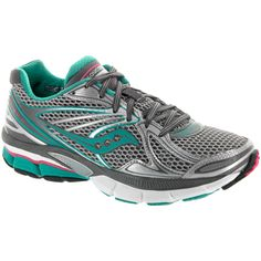 22ba2be1eb9 Saucony Hurricane 15  Saucony Women s Running Shoes Silver green pink  Silver Shoes