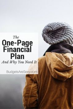 The fact is, in a single page you can prioritize what you really want in life and figure out how to get there. http://www.budgetsaresexy.com/2015/04/one-page-financial-plan-book-review/