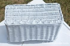 How to Spray Paint Wicker Baskets and get the full coverage you need for a clean, pristine paint job!