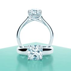 Lucida® diamond engagement rings. #TiffanyPinterest