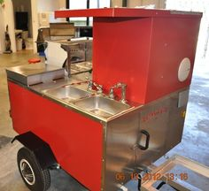 Red TD 18 with two sinks www.TopDogCarts.com