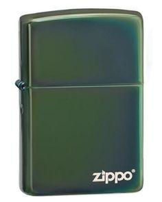 Lighters - Zippo Chameleon Chrome Plated Logo Lighter - Oxemize.com