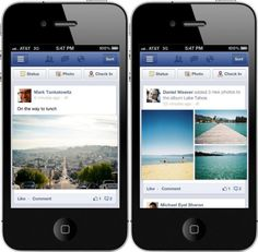 Facebook today launched an improved design for posts in the News Feed across its iOS (iPhone and iPad) and Android apps, as well as on its mobile website (m.facebook.com). As part of the update, photos are now up to three times larger. Furthermore, all posts will now fill the screen from edge to edge. Last but not least, multiple photos from an event or album are displayed within the News Feed.