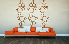 Wall Decals Geometric Circles Bubbles Cluster Wall Pattern Abstract Decor Shapes