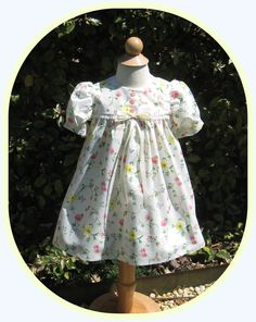 Toddler Girl, Baby Girl, Traditional, Classic Summer Dress in Soft, Breezy Cotton Print on Etsy, $45.00