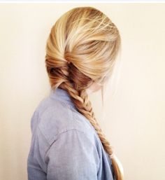 Pretty braid that is simple but would look good with any outfit. you could wear it for a lazy day or dress up day
