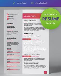 Get the best resume format PDF! Gradient Style is an amendable, professional modern CV design in double page, easy-to-use & edit PDF format!