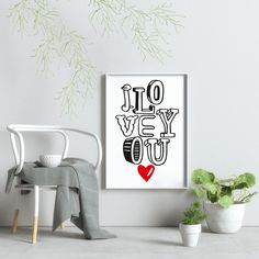 Typography Prints, Etsy Seller, Graphic Design, Art Prints, Interior Design, My Love, Handmade Gifts, Illustration, Poster