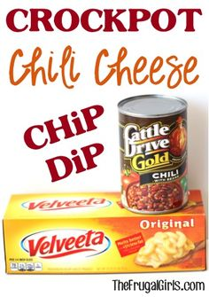 Crockpot Chili Cheese Dip Recipe! ~ from TheFrugalGirls.com ~ this delicious dip couldn't be easier, and it's the perfect party-pleaser! #dips #recipes #thefrugalgirls