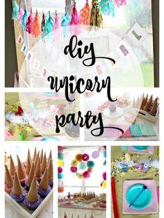 DIY Unicorn Party | Decor, Activities, Recipes, Tips & Ideas