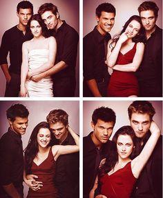 Taylor Lautner con Kristen Stewart y Robert Pattinson
