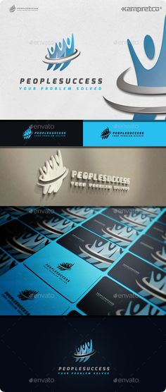 People Success  Logo Design Template Vector #logotype Download it here: http://graphicriver.net/item/people-success-logo/11506825?s_rank=816?ref=nexion