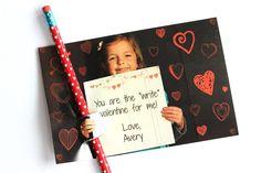Homemade Valentine's cards.