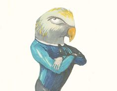 """Check out new work on my @Behance portfolio: """"Parrot Man"""" http://be.net/gallery/45808221/Parrot-Man"""