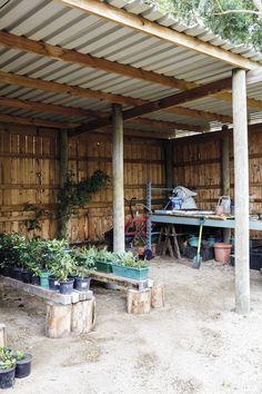 'n Waterwys lushof van vetplante en fynbos Pergola, Outdoor Structures, Outdoor Pergola