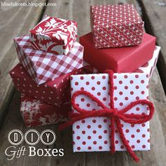 DIY Gift Boxes from Blissful Roots