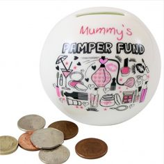 Personalised Pamper Fund Money Box from Personalised Gifts Shop - ONLY Personalized Gifts For Her, Money Box, Gifts For Women, Decorative Plates, Stocking Fillers, Search, Shop, Personalised Gifts For Her, Searching