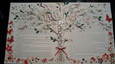 The Secret Garden collaged text ready for framing