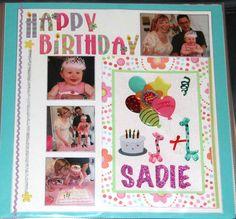 Happy Birthday Sadie - Scrapjazz.com