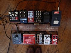 NPD/Recording Day/Pedal Color Coordination. Greer Southland Harmonic Overdrive.
