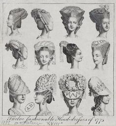 types of haircut fashion vintage 1700 1800 on 1770