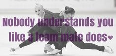 Nobody understands you like a team mate does <3