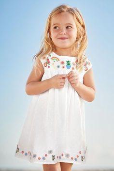 31043dd2d7227 Acheter Robe d été brodée blanche (3 mois - 6 ans) disponible en