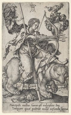 Heinrich Aldegrever. 'Wrath', from The Vices, 1552