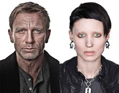Mikael Blomkvist (Craig) and Lisbeth Salander (Mara) 2001 Dragon Journey    http://sf.funcheap.com/city-guide/free-sneak-preview-girl-dragon-tattoo/
