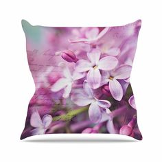 KESS InHouse SC1097AOP03 18 x 18-Inch 'Sylvia Cook French Lilacs Purple Photography' Outdoor Throw Cushion - Multi-Colour >>> More details can be found by clicking on the image. #spanishgarden