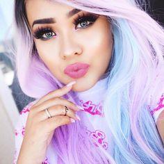 Cotton candy hair & makeup