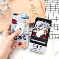 SQUISHY RUBBER CHILLING CAT IPHONE COVER