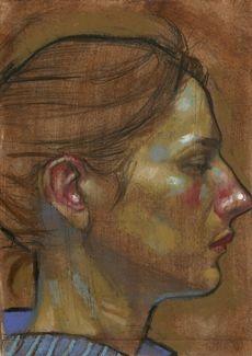H Craig Hanna - Mystery Portrait 28 Gouache, Portraits, Portrait Paintings, French Sculptor, Caravaggio, Portrait Inspiration, Art Oil, Figurative Art, Painting & Drawing