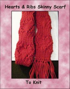 rib skinni, scarf patterns