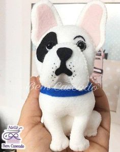 Fox Craft Templates with Felt in the Rack – Creative Ideas Fox Crafts, Felt Crafts Diy, Dog Pitbull, Felt Dogs, Dog Ornaments, Dog Pattern, Sewing Toys, Handmade Felt, Diy Stuffed Animals