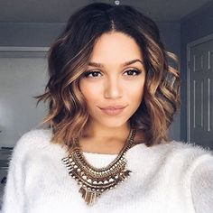 Short hair, don't care ! Styling short hair isn't as hard as you think ! @ashleyymari3 added tousled curls to her mane to accentuate the awesome layers and colors of her locks ! Get a similar look with any of our 25mm wands! #hairoftheday #NuMeStyle #shorthairdontcare