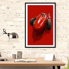 first legend; Juan Manuel Fangio at the wheel of the Ferrari-Lancia the car he mastered to win the 1956 World Championship title, the of F1 S, Ferrari F1, World Championship, Drawings, Creative, Car, Artist, Artwork, Vintage