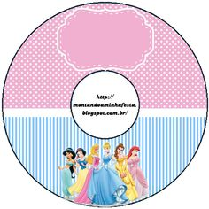 Montando minha festa: kit para imprimir grátis princesas Disney