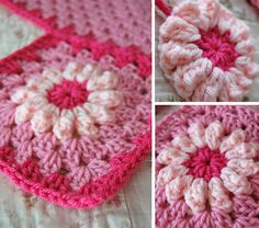 I seem to have a love affair with pink, and since the daisy blanket was so well received, I'm doing a new version in pink for a little baby ...